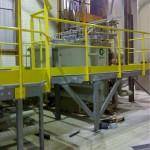 Montage passerelles en milieu chimique Salgiter Montbard