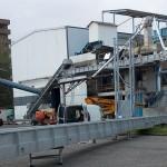 montage levage AB-Service convoyeur agricole Euralis
