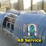 Intervention AB Service sur convoyeurs site de la SIAAP Seine du Val d'Achères